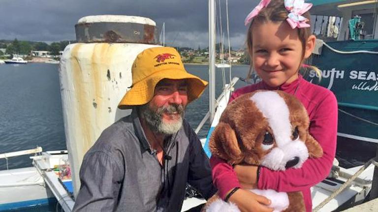 Alan Langdon és lánya - családi vita állhat a háttérben? (Fotó: Sydney Morning Herald)