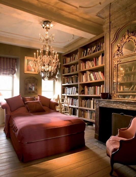 15 csodás hálószoba, ami minden könyvmoly szívét megdobogtatja