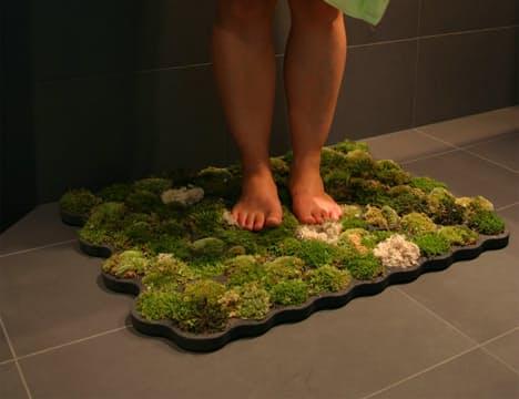 A természet érintése a fürdőszobádban: mohás fürdőszobaszőnyeg