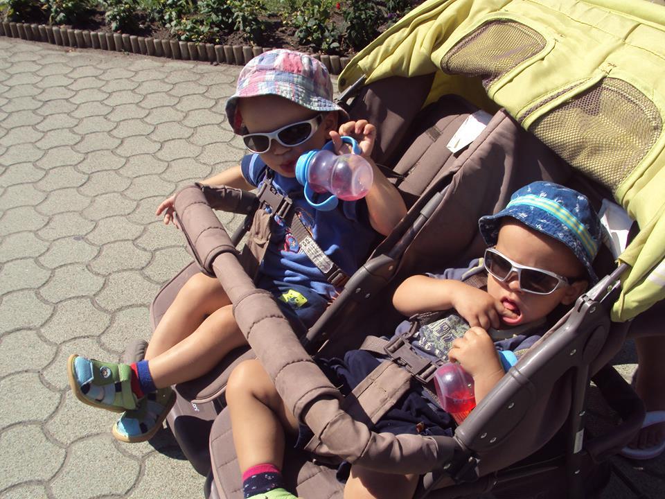 Mikós és Vince, 2 és fél évesek