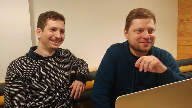 Visy Zoltán a Redmenta vezetője és Király Dávid alapító (Fotó: Andersen Dávid)