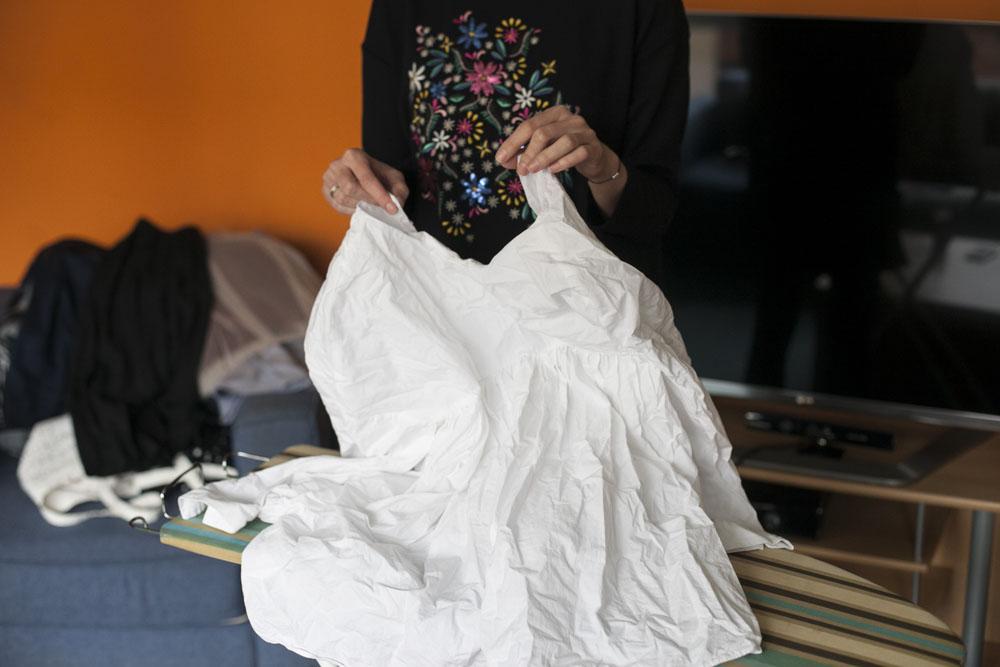 Megküzdöttünk 3 nehéz esettel: rakott szoknyát, inget és tüll szoknyát vasaltunk