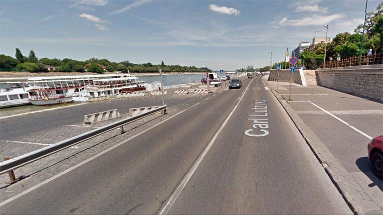 A Carl Lutz rakpart (Fotó: Google Maps)