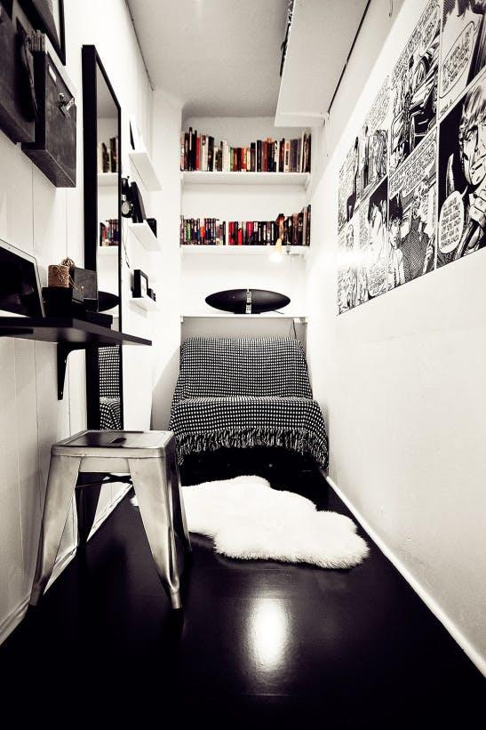 Szuper inspirációk extrém keskeny szobák berendezéséhez