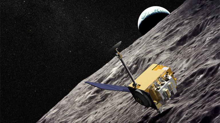 A NASA szintén most meglelt LRO nevű műholdjának látványképe (Kép: NASA)