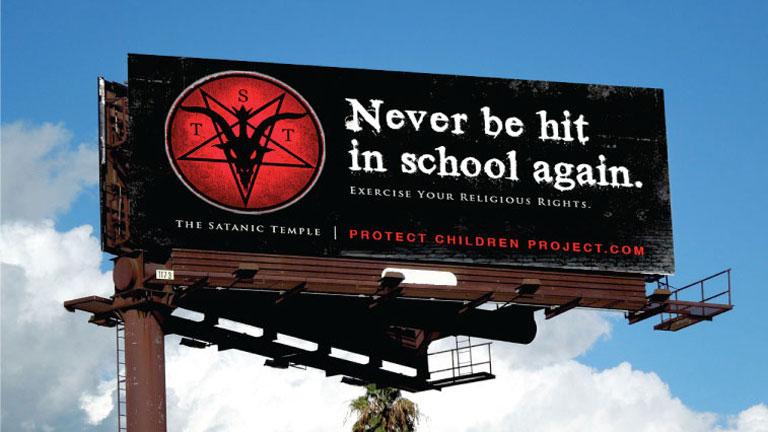 A tervezett óriásplakát (Fotó: The Satanic Temple)