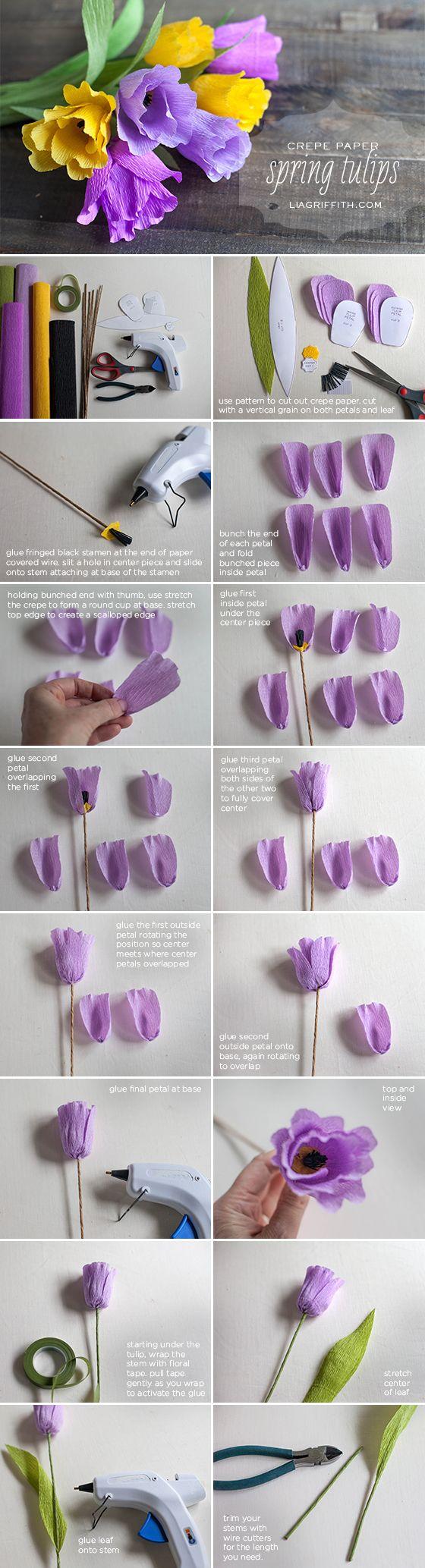Ha igazán tartós tulipánt szeretnél, akkor készíts magadnak egyet. A következő technikával