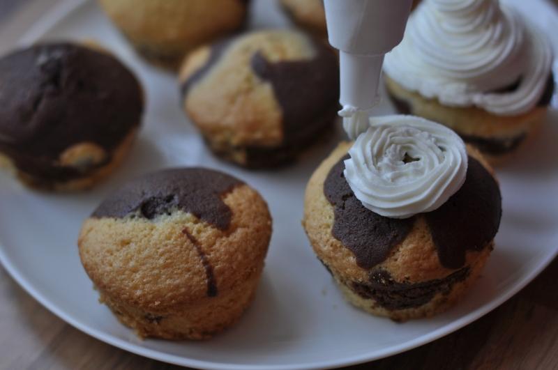Duna hullám cupcake