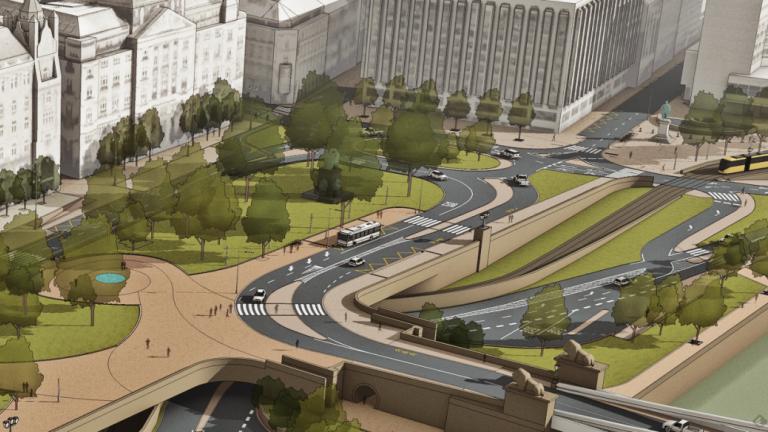 A Széchenyi tér tervrajza (fotó: BKK galéria)