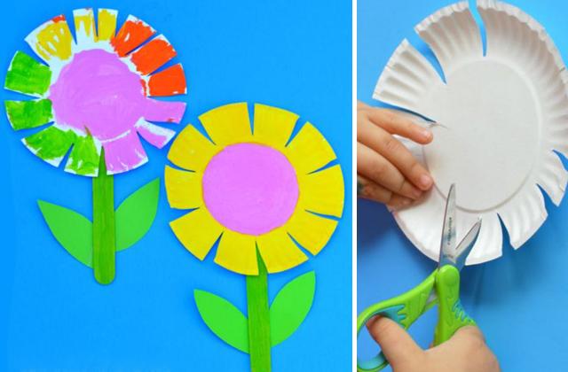 Papírtányérból ilyen egyszerűen, ilyen szép virágot készíthetnek a lurkók.