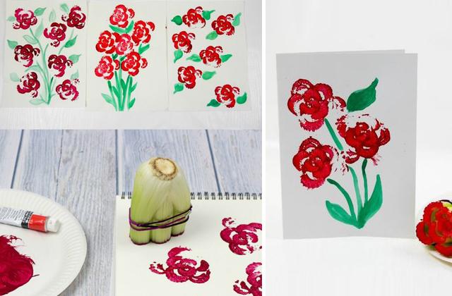 Nemcsak virággal festhetünk, hanem zöldségekből is készíthetünk nyomdát a gyerekekkel.