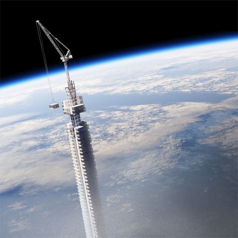 A torony egyes részeit előre legyártva csatlakoztatnák a központi maghoz (Fotó: cloudsao.com)