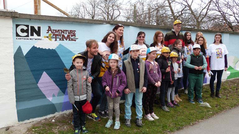 A gyerekek megálmodják, a Mosolyfestők megfestik a 'legállatibb' ovit