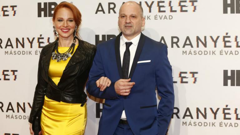 Ónodi Eszter és Thuróczy Szabolcs az HBO Aranyélet című sorozat 2. évadának díszbemutatóján. Fotó: Smagpictures.com / Gábor Rozmanitz
