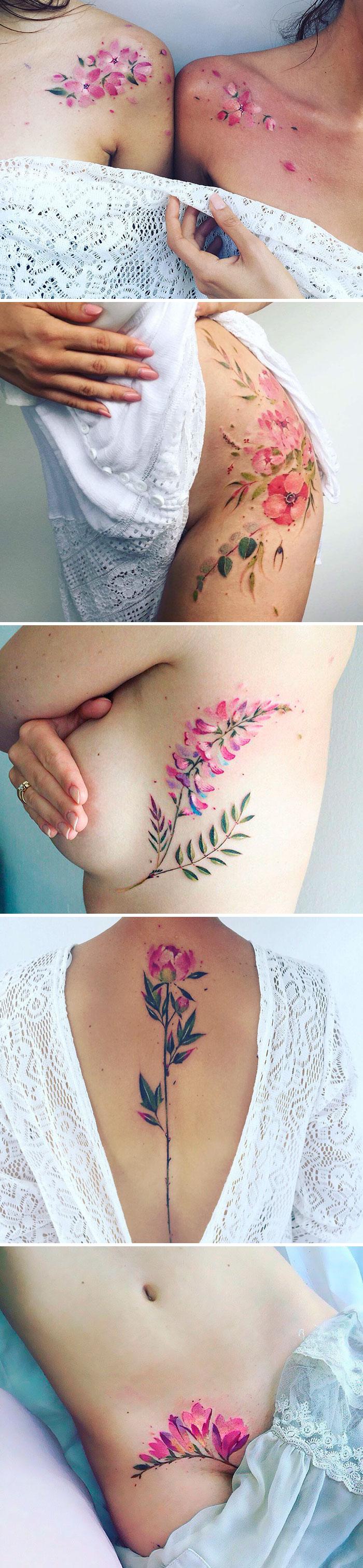 Álomszép virágos tetoválások, amik a bőrödön nyíladoznak