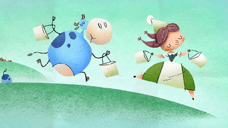 Marie Harel a Google mai logóján (Fotó: Google)