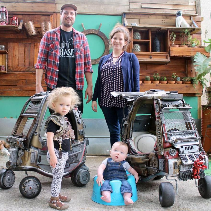 Vagány Mad Max cuccokká alakította gyerekei játékait az apuka