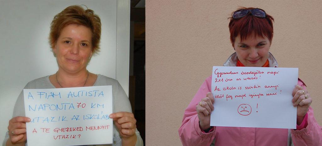 A kampányban részt vevő két további, a cikkben nem megszólaló anyuka | Forrás: Mozaik Közhasznú Egyesület Az Autizmussal Élő Emberekért