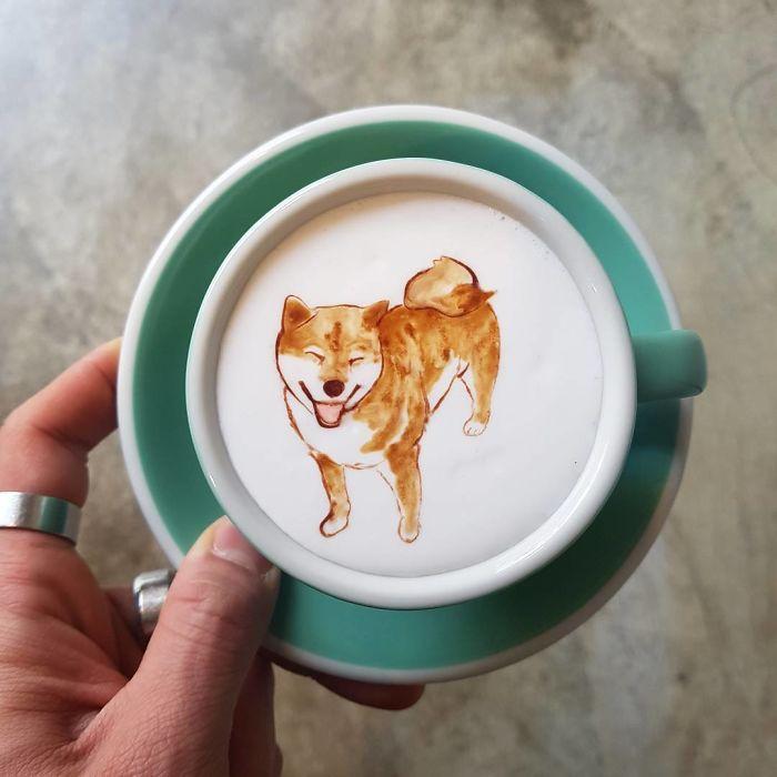 Elképesztő kávékat csinál a koreai barista