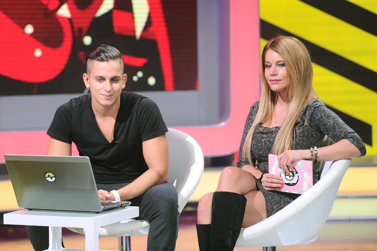 Aurelio és Éva, a BeleValóVilág műsorvezetői (Fotó: RTL2 Sajtóklub)