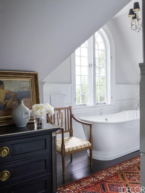 Káprázatos fekete-fehér fürdőszobák