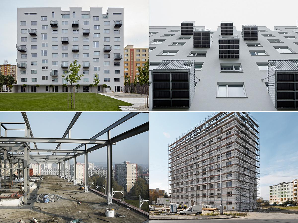 Rimaszombati lakótelep panelfelújítási terve (Fotó: Gut Gut)
