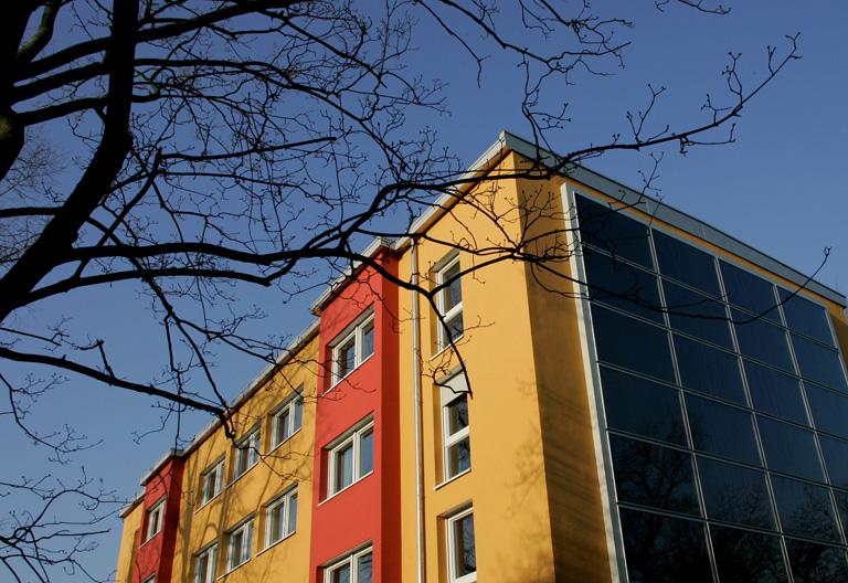Ludwigshafeni napelemes ház (Fotó: Getty Images/Ralph Orlowski)