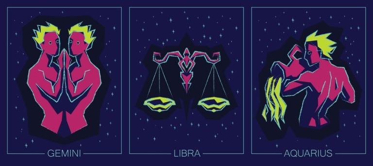 Számos tulajdonságban hasonlítanak egymásra a levegős csillagjegyek