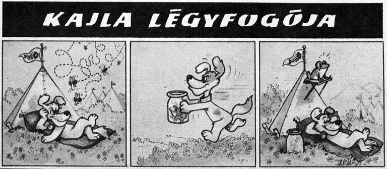 Dargay Attila egyik első alkotása Kajla kutya volt (Fotó: Tumblr)