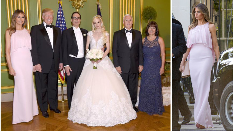 Melania Trump elkövette a legnagyobb esküvői divatbakit - fotó