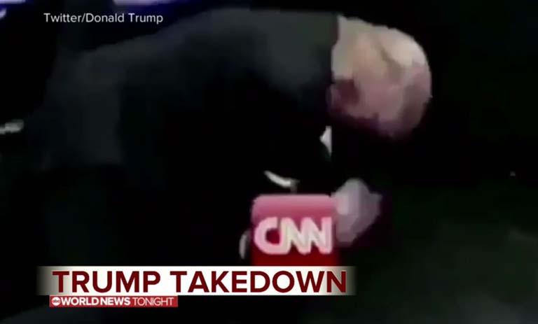 Egy képkocka az elképesztő videóból. Felül az Egyesült Államok jelenlegi elnöke látható (Fotó: Twitter/Donald Trump)