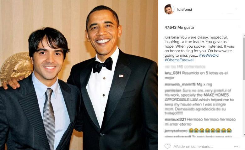 Luis Fonsi és Barack Obama 2009-ben