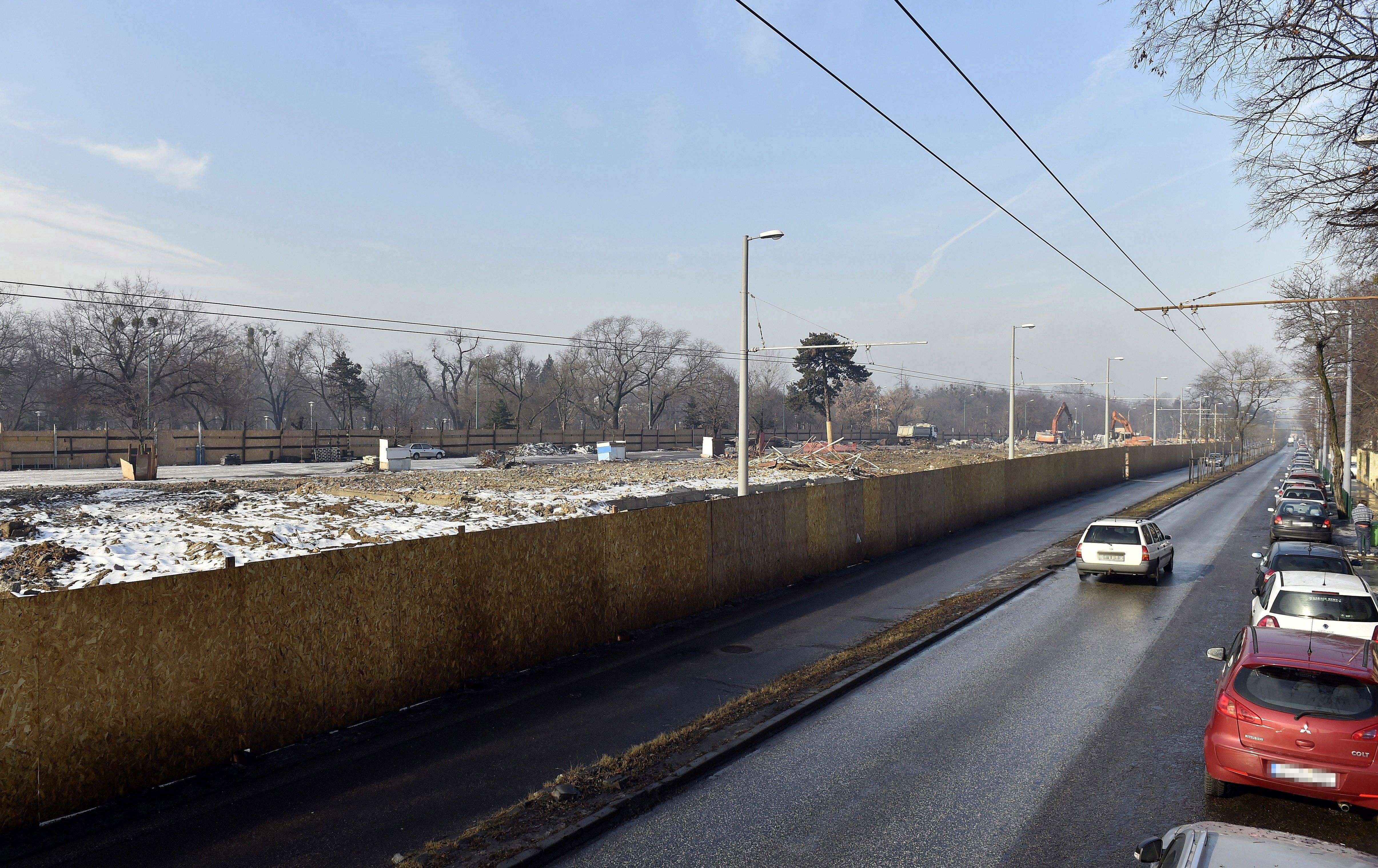 Februárban már csak a hűlt helyét lehetett találni a régi Közlekedési Múzeumnak.
