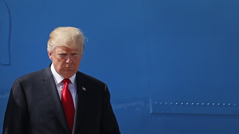 Donald Trump bizonyára nem örült, amikor Hamburgba érve meghallotta a hírt (Fotó: Getty Images)