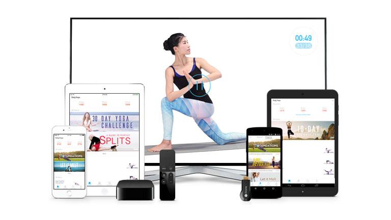 A Daily Yoga olyan, mintha személyi jógaedző lakna a telefonunkon vagy táblagépünkön (Fotó: www.dailyyoga.com)