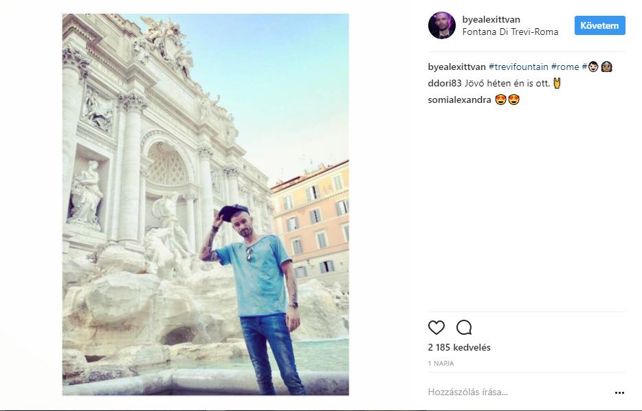 Rómában vakációzik szerelmével ByeAlex