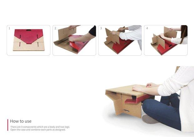 Kartonból készült asztalka segít házit írni a rászoruló gyerekeknek