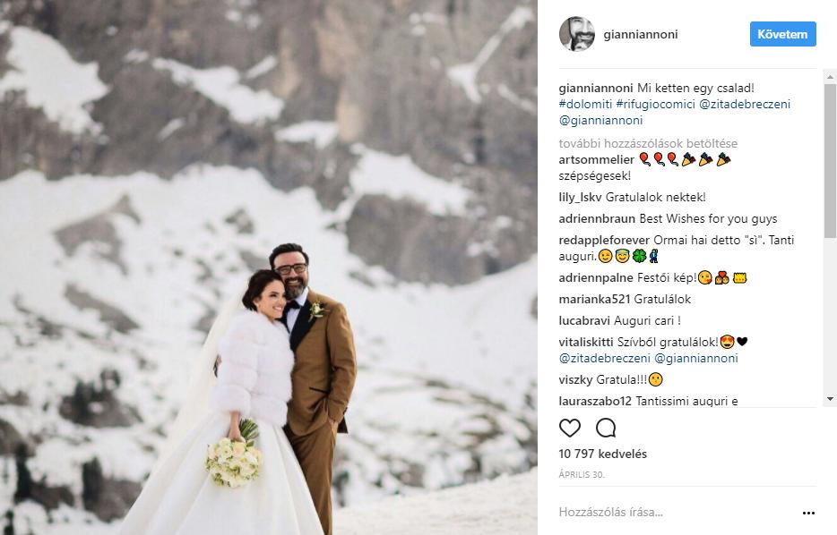 Az olaszországi Dolomitokban házasodtak össze