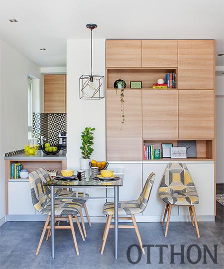 Szögletes, színes lakássá újította fel nagyszülei naphegyi lakását Orsolya