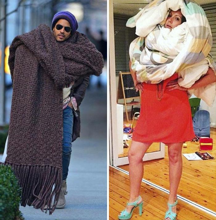 Még mindig zseniálisan koppintja a celebfotókat a kreatív asszony