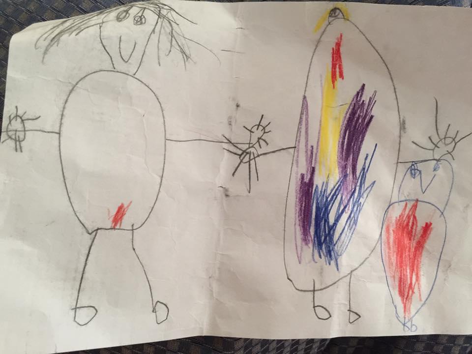 Így rajzolta le anyukája menstruációját egy kisgyerek