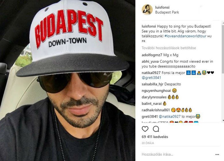 Nem erre számított a magyaroktól a Despacito énekese, Luis Fonsi