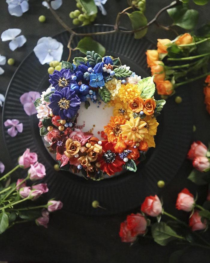 A virágcsokroknak beillő tortákat tuti nem lenne szíved felvágni!