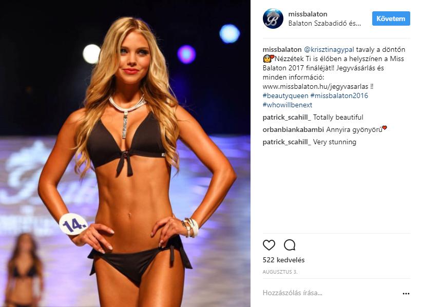 A Miss Balaton 2017 győztese: