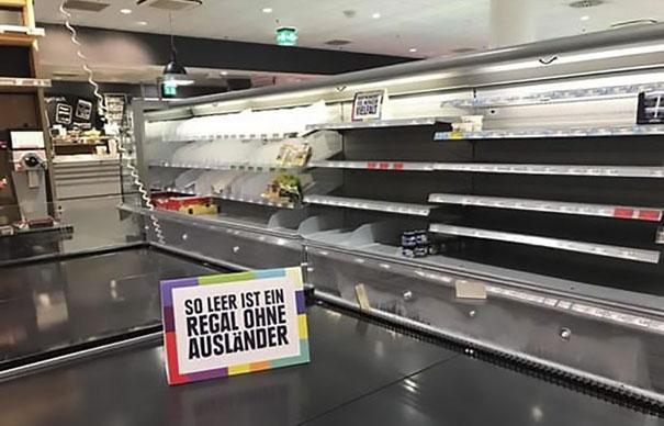 Zseniális módszerrel harcol a rasszizmus és a kirekesztés ellen egy német szupermarket