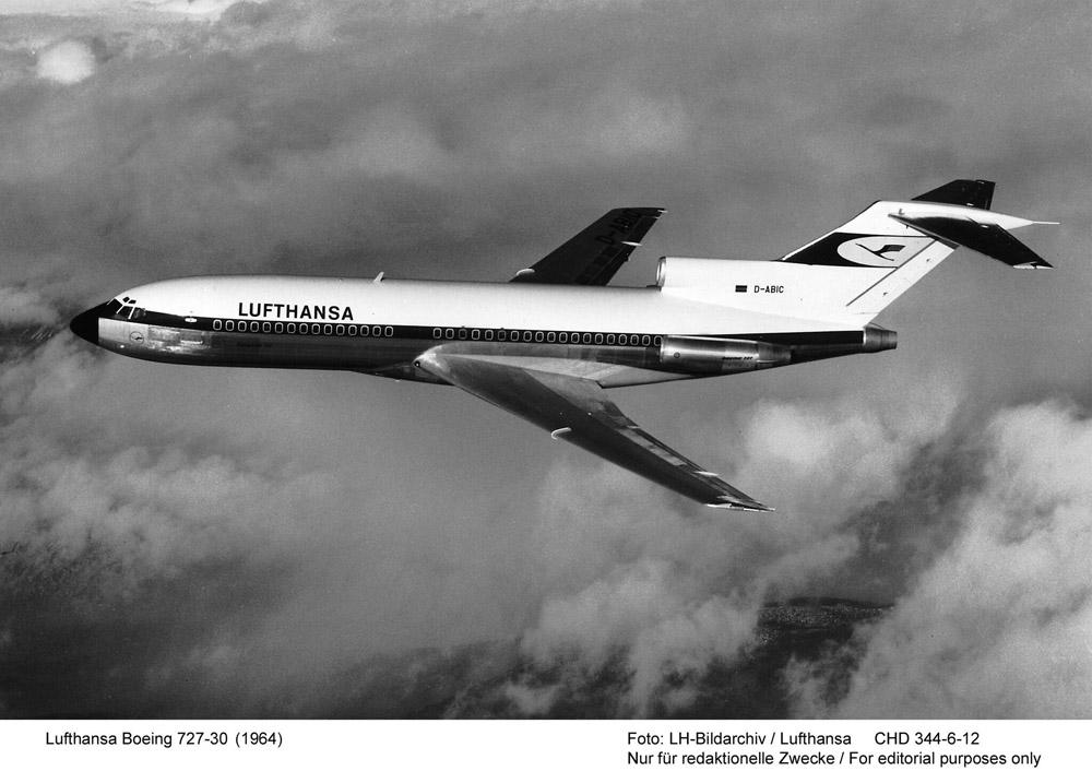 Boeing 727-30 - Ilyen típussal szállt le először Budapesten a Lufthansa