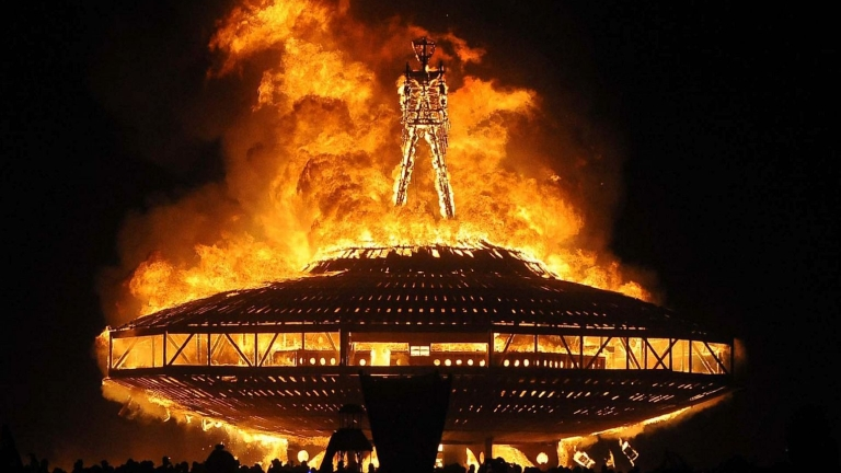 Burning Man (fotó: Andy Barron/Reno Gazette-Journal/AP Photo)