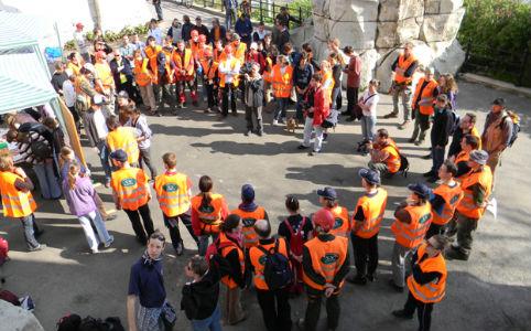 Gellért-hegy takarítás a Tiszta Hegyek Világnapján