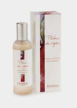 Finom illóolajokból készült szobaillatosító spray - mint a parfümök, úgy bomlanak ki itt is a fej-, a szív és az alapillatok.  Esteban Paris szobaillatosító spray - barack (5990 Ft/100 ml, Szépségek K