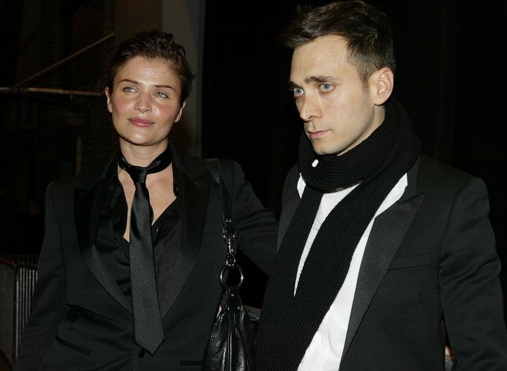Dior Homme partin, Helena Christensen társaságában, 2004-ben